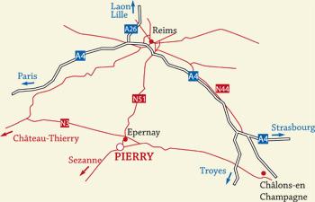 La commune de pierry for Leclerc pierry